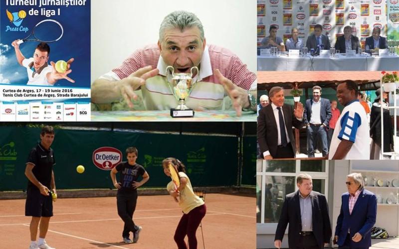 Ilie Bărbulescu, invitat special la Press Cup Dr. Oetker. Jurnaliștii primesc lecții de tenis de la Cătălina Cristea