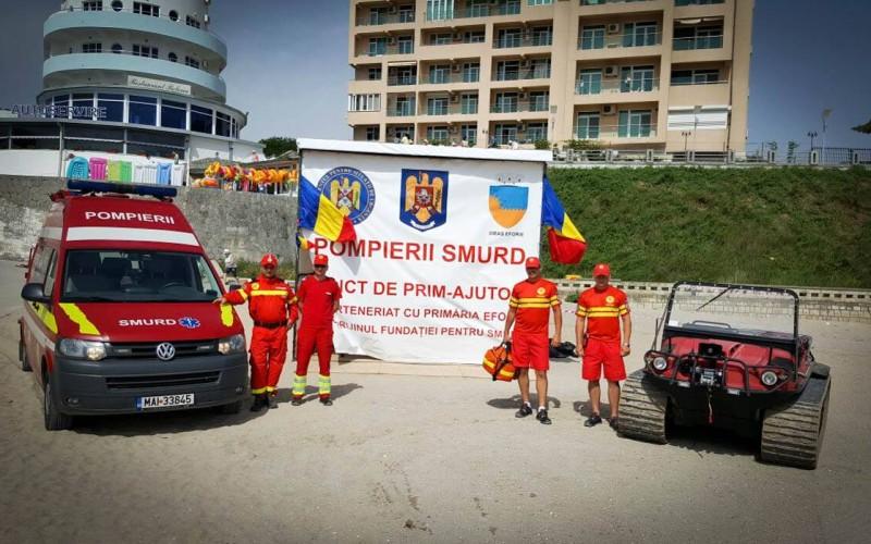 Peste 700 de persoane, salvate pe litoral de către pompierii SMURD