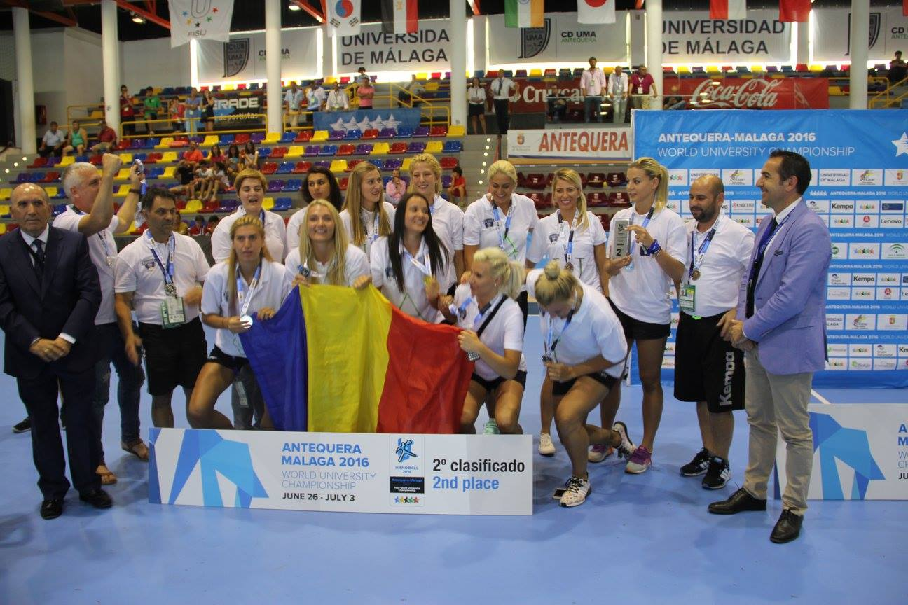 argint handbal universiada romania