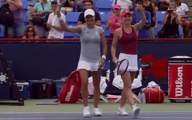 Simona Halep și Monica Niculescu, defilează la Montreal. S-au calificat în finala de dublu