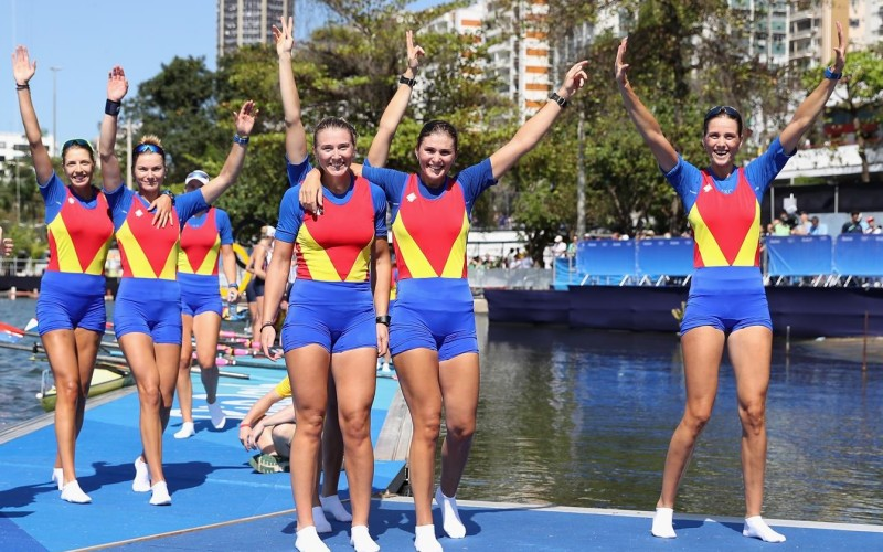 România are medalie olimpică și la canotaj. Bronz cu echipajul feminin de 8 plus 1