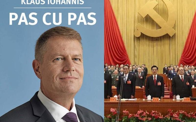 """Partidul Comunist Chinez îi dă bani lui Iohannis pentru cartea """"Pas cu pas"""", tradusă în chineză"""