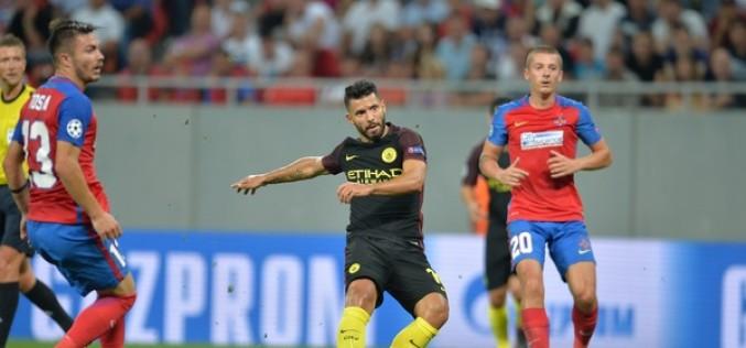 Steaua București, umilită de Manchester City în Liga Campionilor cu un sec 5-0