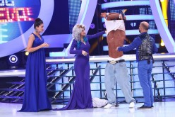 Andreea Bălan îl dezbracă la bustul gol pe Dorian Popa ca să vadă dacă seamănă cu 50 Cent