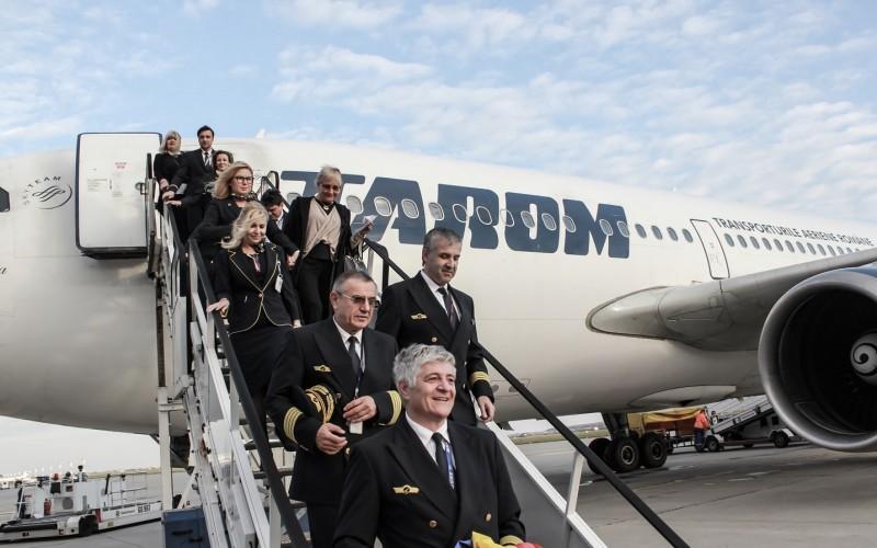 Tarom scoate din uz avionul Airbus A310-300 YR-LCA, botezat Transilvania