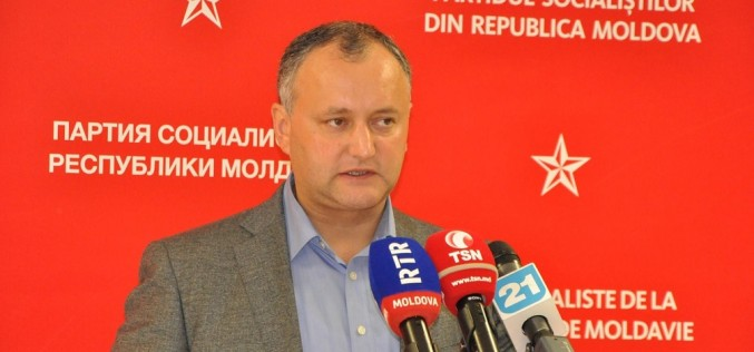 Moldovenii nu mai vor în UE, au ales Rusia. Igor Dodon, ales Președinte al Republicii Moldova