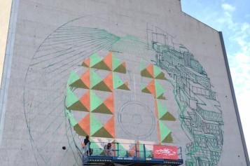 Cel mai mare graffiti din București se pictează în Regie
