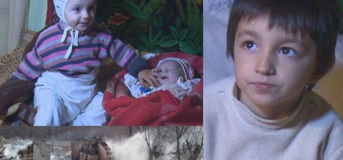 Erou la 6 ani. Un copil din Vaslui și-a salvat surorile din casa cuprinsă de foc