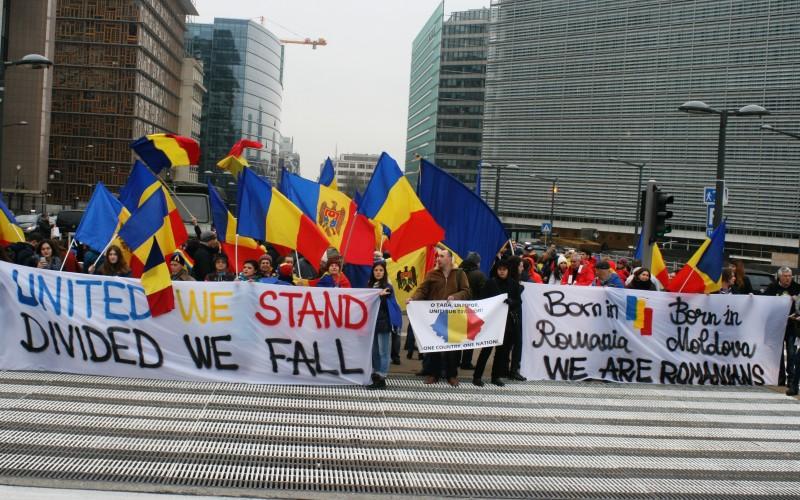 Miting pro Unire la Bruxelles, la Comisia Europeană