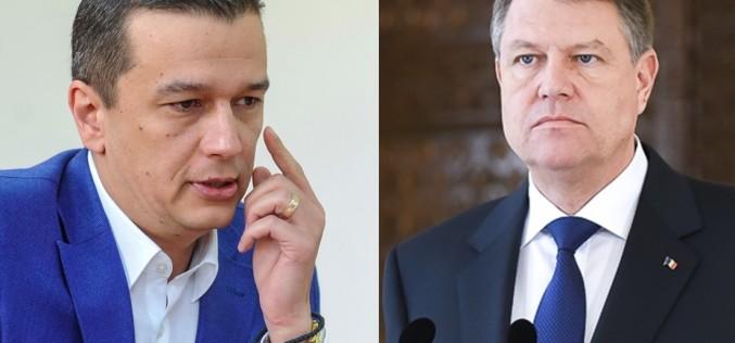Klaus Iohannis îl acuză de Sorin Grindeanu de atentat la siguranța națională