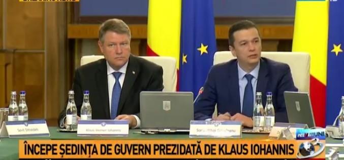Scandal la Guvern. Iohannis s-a dus peste Grindeanu în şedinţa Executivului