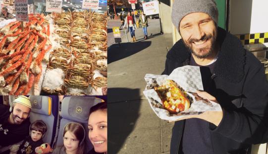 Nicolai Tand, aflat în vacanță, a gătit sarmale și chiftele în Seattle