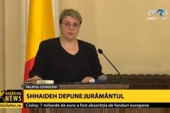 Sevil Shhaideh a depus jurământul de învestitură în Guvernul României cu mâna pe Coran, nu pe Biblie