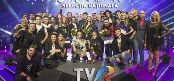 15 piese, calificate în semifinala Eurovision România 2017