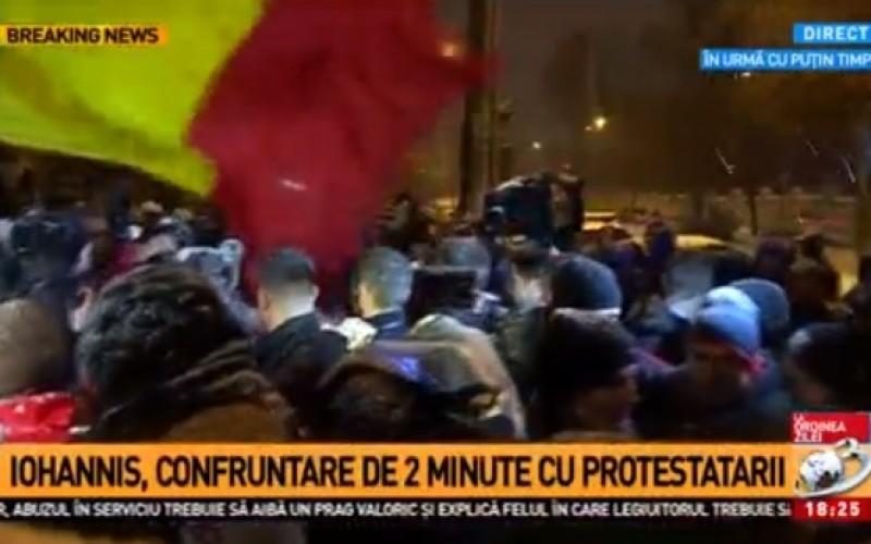 Iohannis, huiduit la Cotroceni. Preşedintele a mers să vorbească cu protestatarii