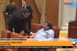 Senatorul USR Mihai Goțiu salvează România prin somn. Are o leafă de 20.000 de lei pe lună