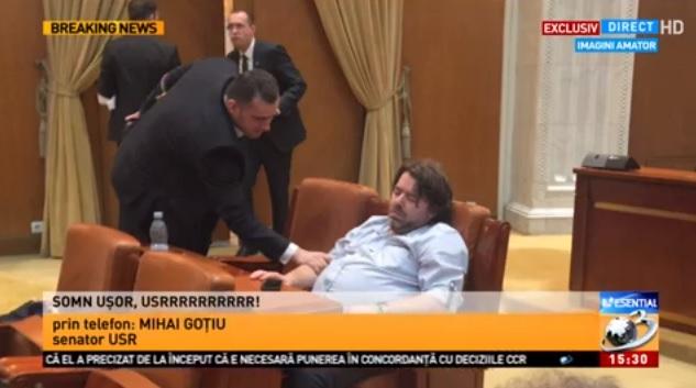 mihai gotiu - doarme in parlament
