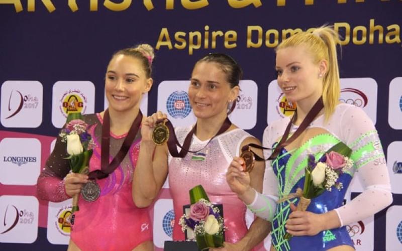 Performanță uluitoare reușită de Oksana Chusovitina. Aur la sărituri la vârsta de 41 de ani