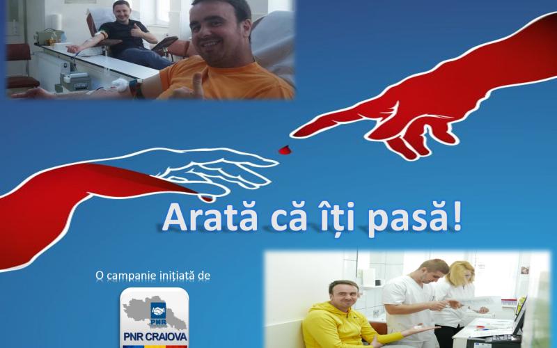 """""""Arată că îți pasă!"""", campania Noua Românie de la Craiova pentru donarea de sânge"""