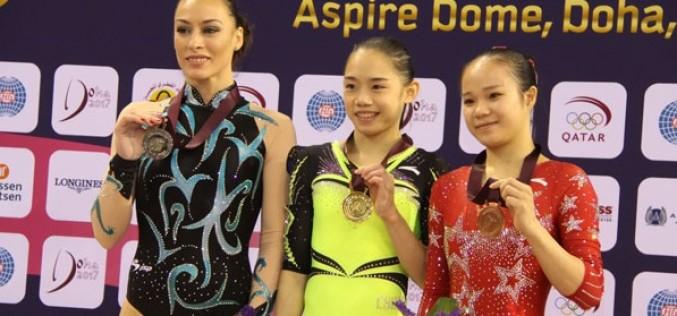 Cătălina Ponor, argint la bârnă la Cupa Mondială de la Doha