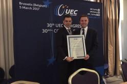 Campionul paralimpic Eduard Novak, premiat de Federația Europeană de Ciclism