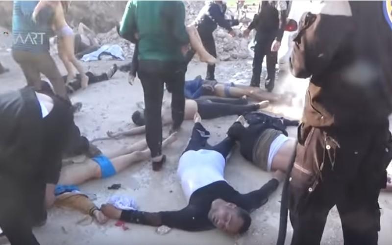 Imagini şocante. Atac chimic în Siria. Cel puţin 58 de morţi – VIDEO