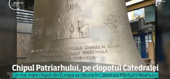 Megalomanie pe banii românilor. Patriarhul Daniel și-a făcut un clopot gigant cu chipul său