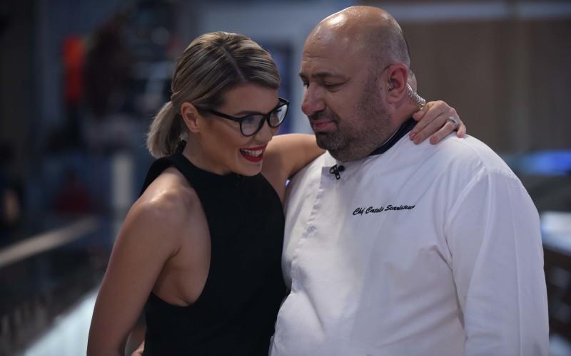 Gina Pistol către chef Scărlătescu: Dacă ajungi la 90 de kilograme, am rochia de mireasă în mașină!