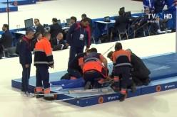 Accidentare gravă la Europenele de Gimnastică de la Cluj Napoca. Laurențiu Nistor a căzut la bară