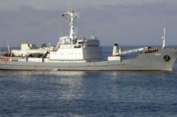 O navă de spionaj din Rusia, scufundată de o navă românească plină cu oi