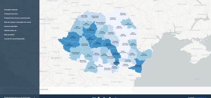 Iată cum arată România în Cifre. Județele unde se câștigă cel mai bine