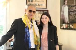 Anca Lungu a fost acasă la celebrul tenor Andrea Bocelli