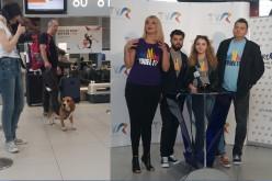 """Un câine din rasa Beagle a """"sabotat"""" conferința de presă de la Otopeni a delegației României la Eurovision"""