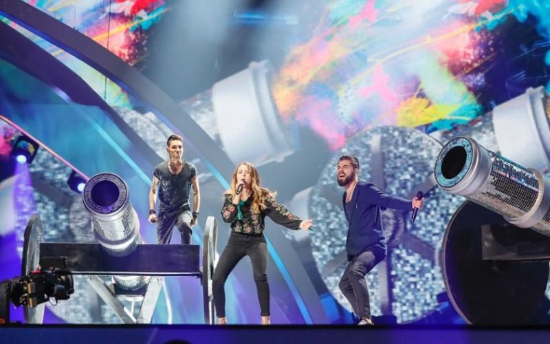 Ilinca şi Alex Florea au avut prima repetiţie pe scena Eurovision de la Kiev