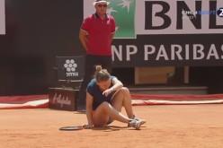Ghinion curat pentru Simona Halep. S-a accidentat în finala de la Roma