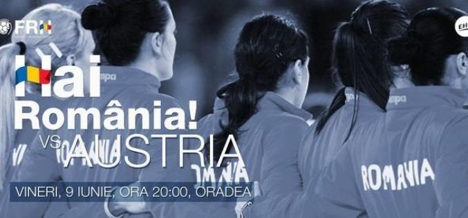 TVR 2 şi TVR HD transmit în direct dubla România-Austria  din preliminariile Mondialului de handbal