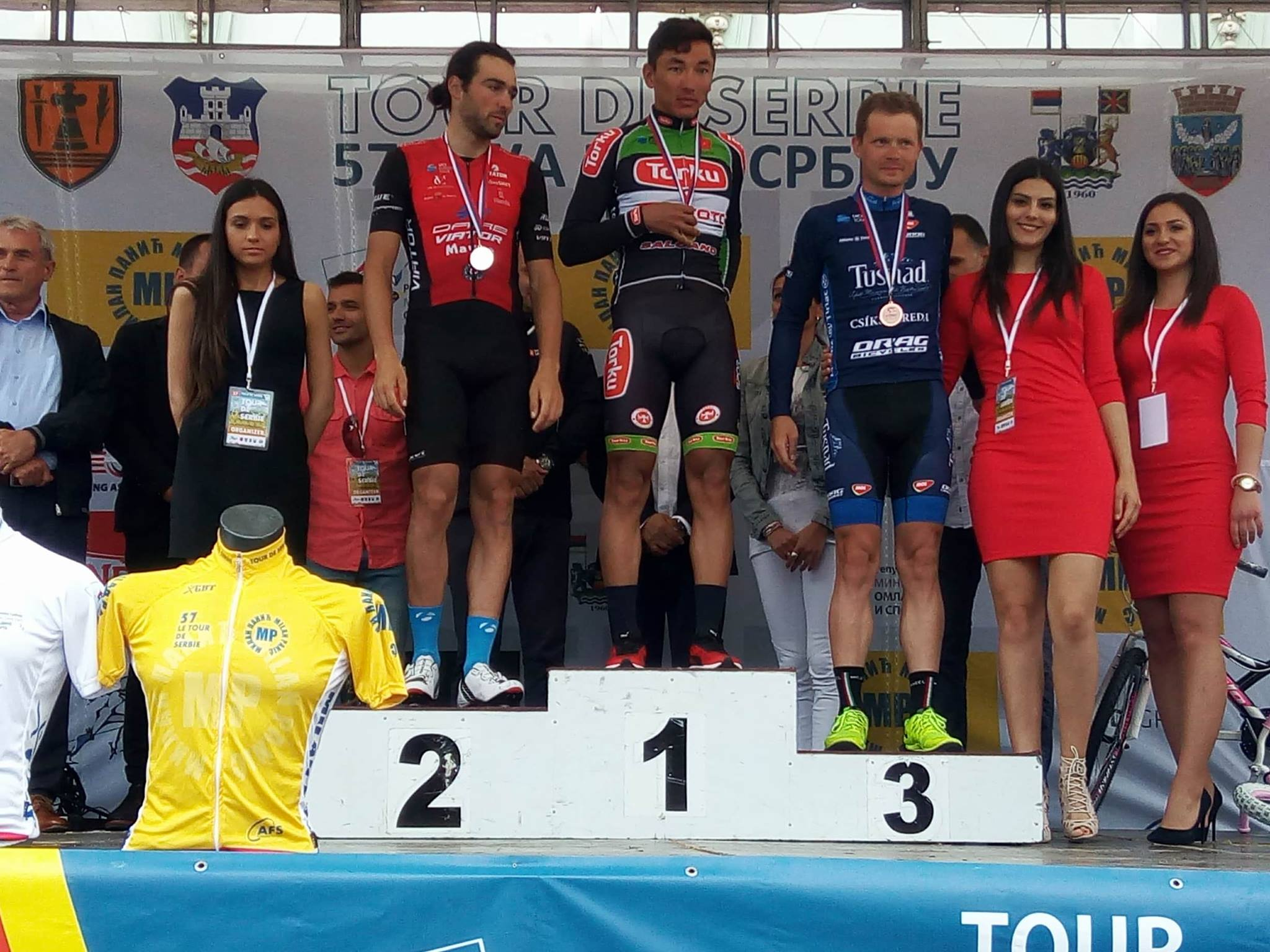 Tușnad Cycling - podium
