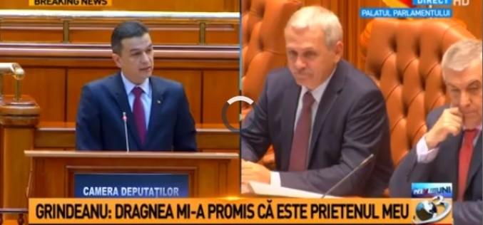 Grindeanu îl face praf pe Dragnea, în Parlamentul României: Mi-a promis că va fi prietenul meu!