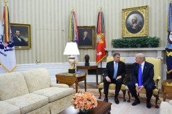 Klaus Iohannis, vizită istorică în SUA. A fost primit de Trump la Casa Albă