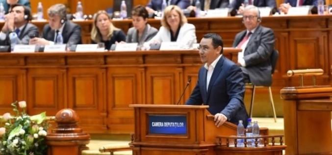 Ponta, declarații incendiare la Parlament: Moțiunea de cenzură reprezintă declanșarea unui război atomic