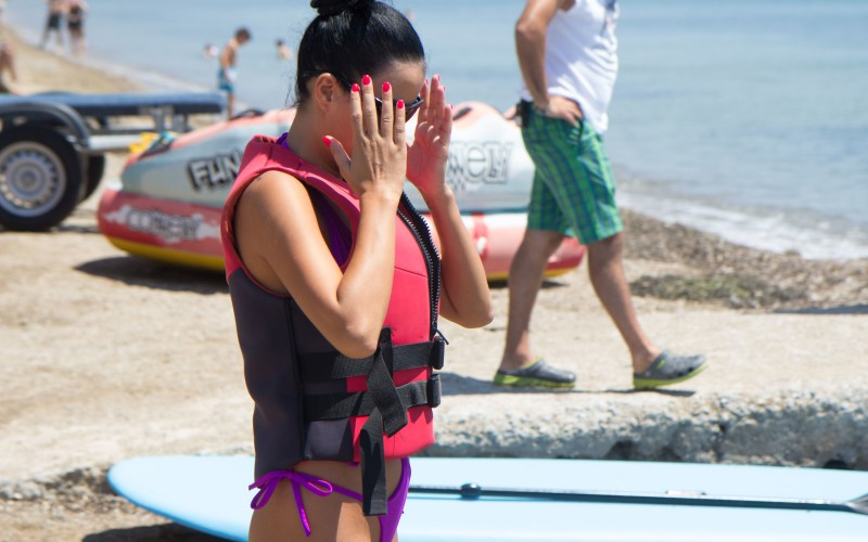 Daniela Crudu, atac de panică în Grecia!!!