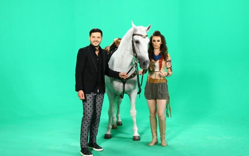 Liviu Vârciu a decis să îşi cumpere un cal la filmările pentru noile ident-uri Antena 1