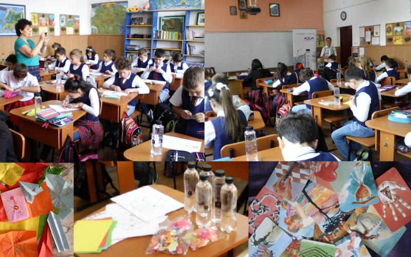 Elevii de la Şcoala  gimnazială  nr. 58 din  Bucureşti au învăţat despre Magia apei informate