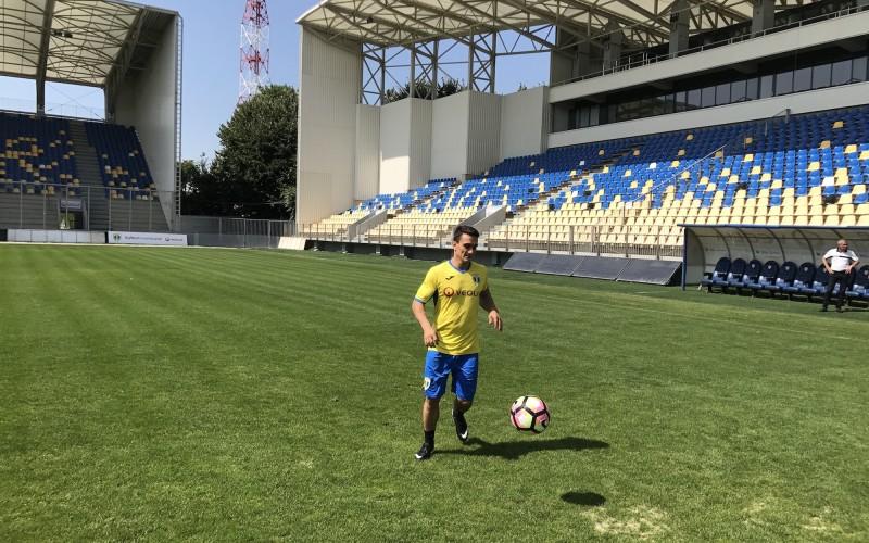 """Marian Drăgulescu a jucat fotbal alături de """"lupii galbeni""""!"""