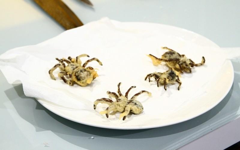 Mâncăruri ciudate la Chefi la Cuţite: Tarantule tempura și salată cu viermi de mătase