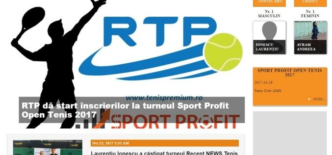 RTP şi-a lansat site-ul oficial. Jucătorii amatori de tenis îşi pot crea gratuit profilul!