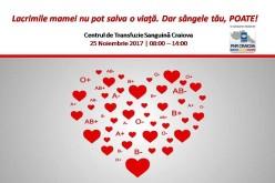 """Noua Românie te îndeamnă salvezi o viaţă, donând sânge. """"Arată că îți pasă!"""", campania demarată PNR Craiova"""