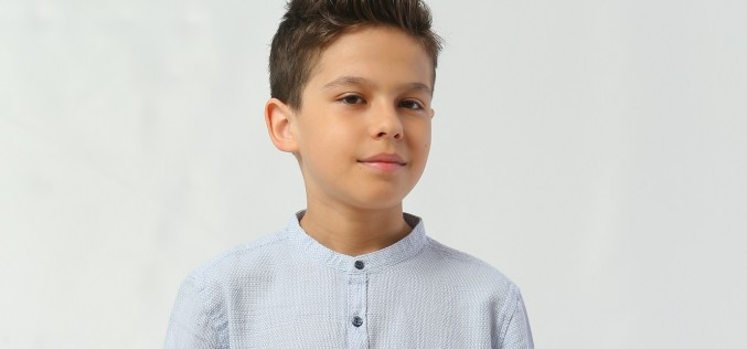 """Tudor Roșu, cel mai tânăr actor din serialul """"Fructul oprit"""""""