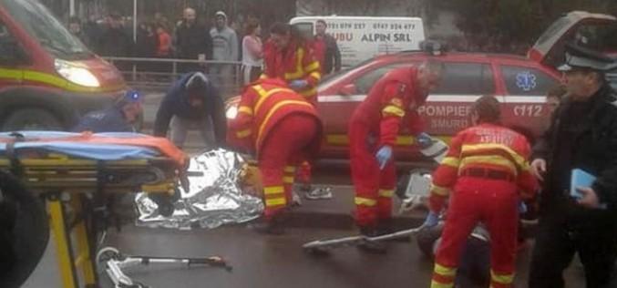Accident groaznic la Galaţi. O femeie şi doi copii, spulberaţi pe trecerea de pietoni