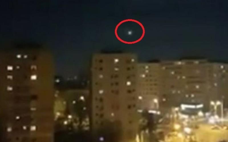 Apariţie misterioasă   Un OZN extraterestru s-a afişat pe cerul Capitalei României
